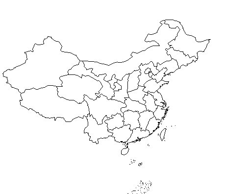 北海道地图简笔画